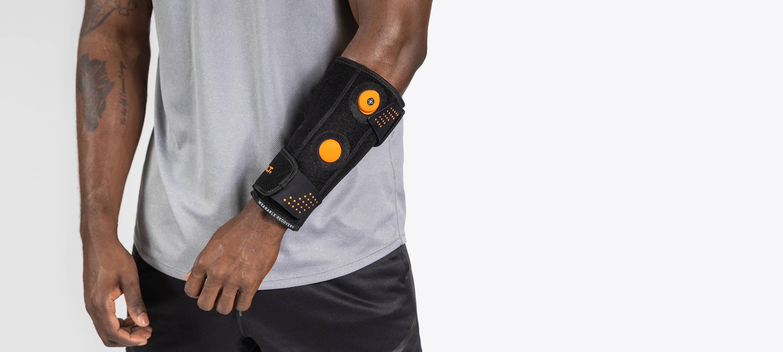 Man wearing Myovolt arm