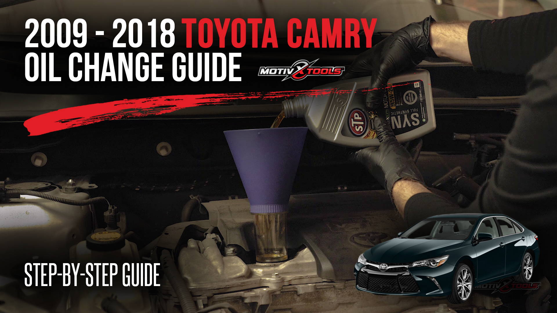 2009 2018 Toyota Camry Oil Change Guide Motivx Tools