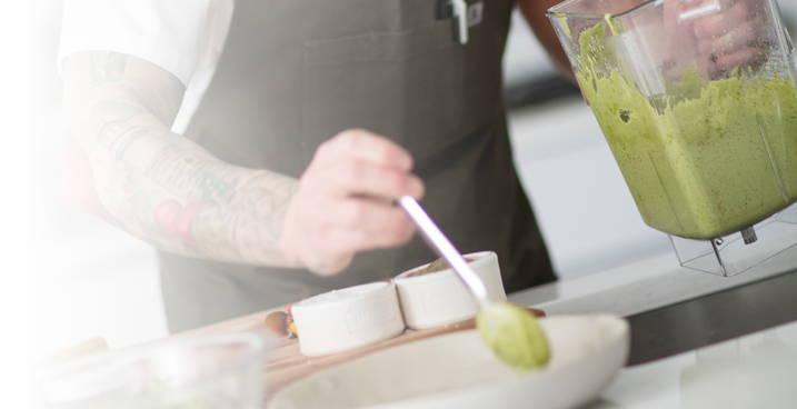Chef using Blender