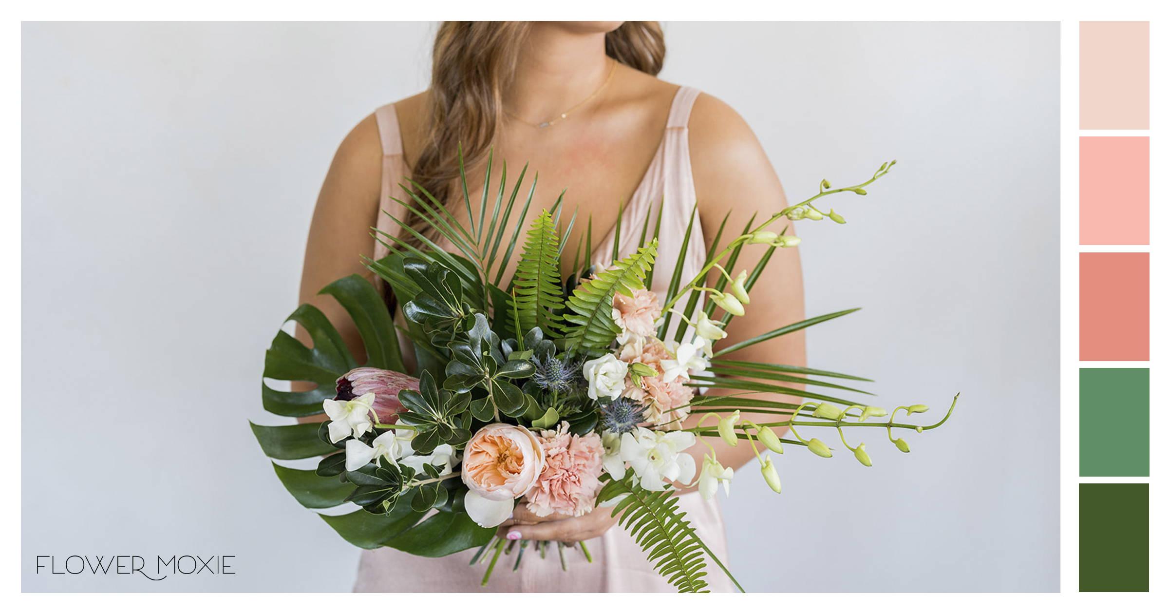 colorful tropical wedding diy ideas