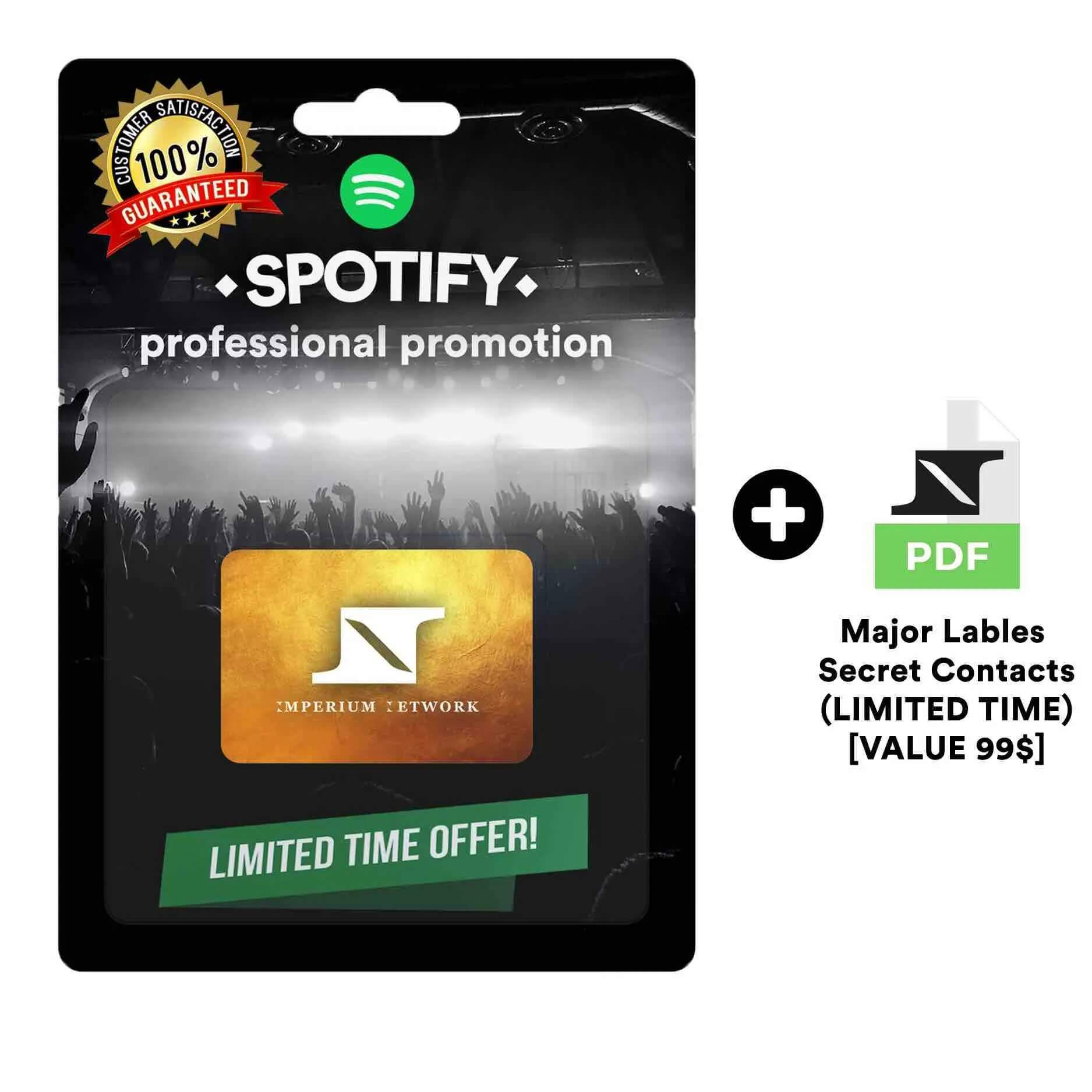 Huge Real and Organic Spotify Promotion(+Bonus)