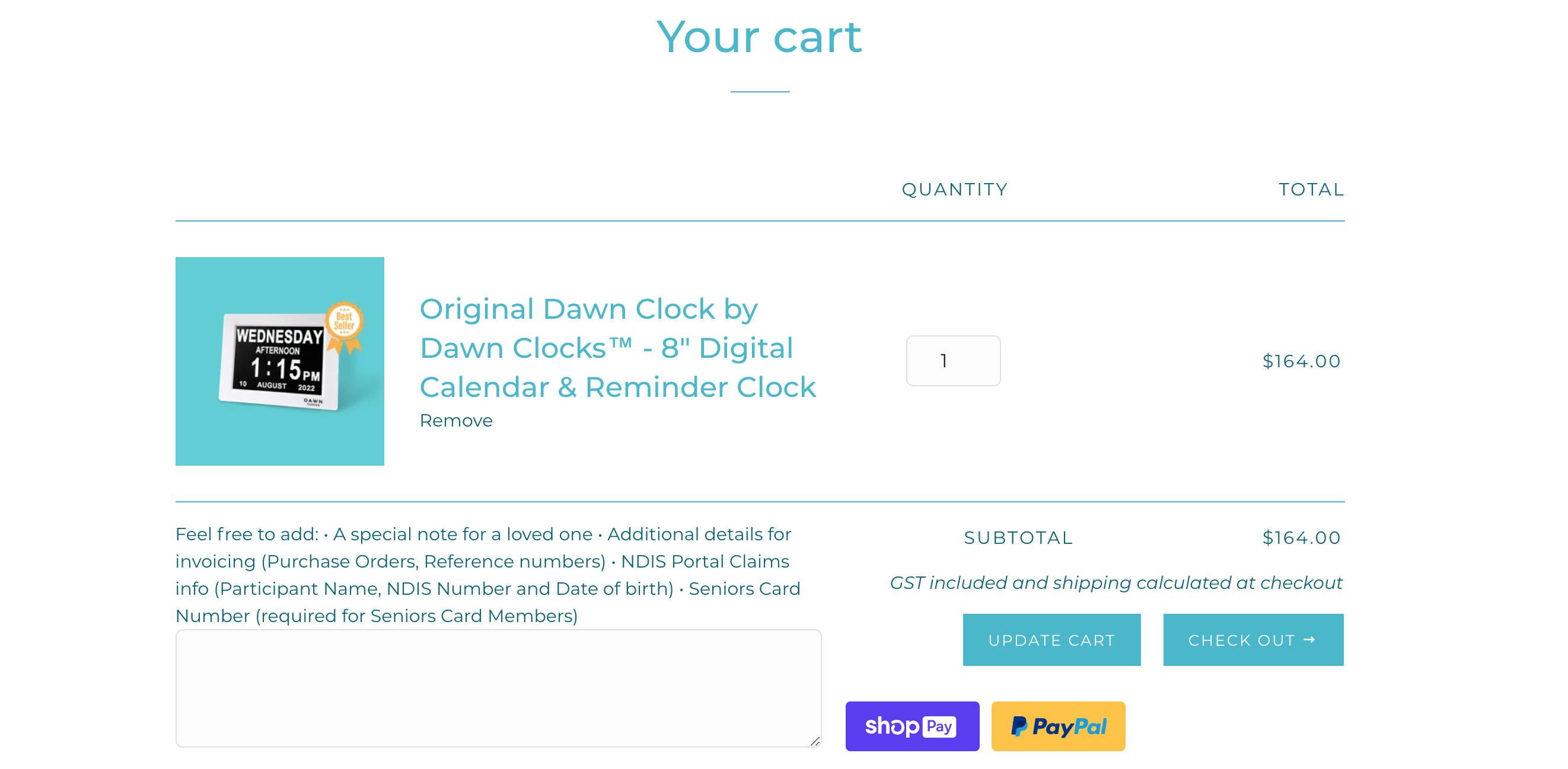 Dawn Clocks Seniors Card Discount Step 1