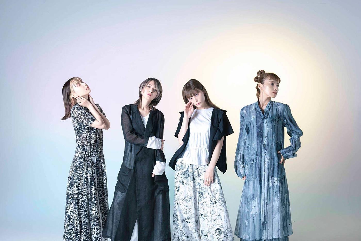 Scandal band Tomomi, Haruna, Rina, Mami. Japanese girl band rock pop // JPU Records