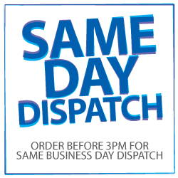 Same day dispatch on orders placed by 3pm