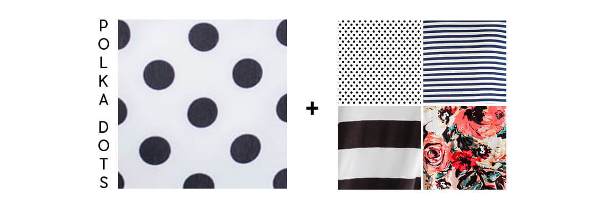 pattern mixing for beginners polka dots