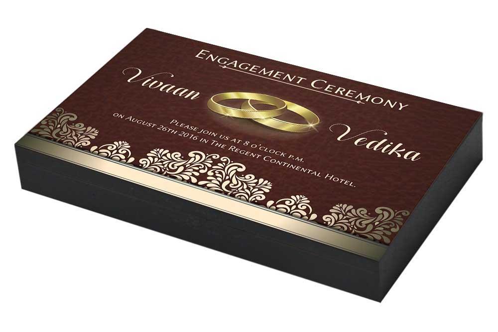 Vintage Engagement ceremony Invitation