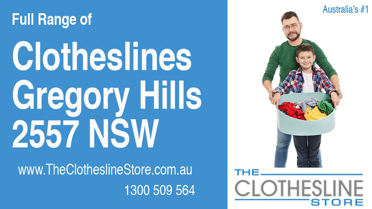 New Clotheslines in Gregory Hills 2557 NSW