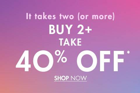 Buy 2 Take 40% Off