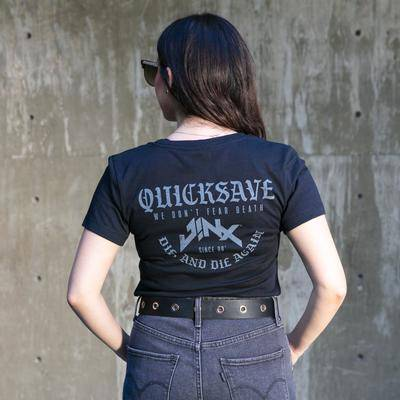 Photo of a model wearing a JINX Quicksave Women's Tee