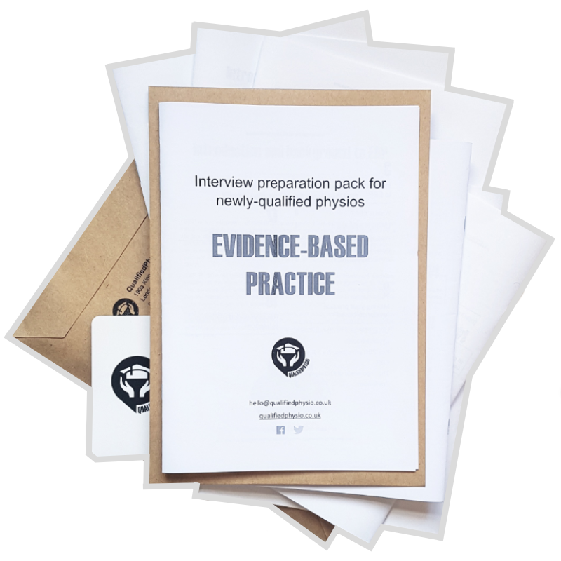 QualifiedPhysio EBP Evidence-Based Practice Interview Preparation Pack