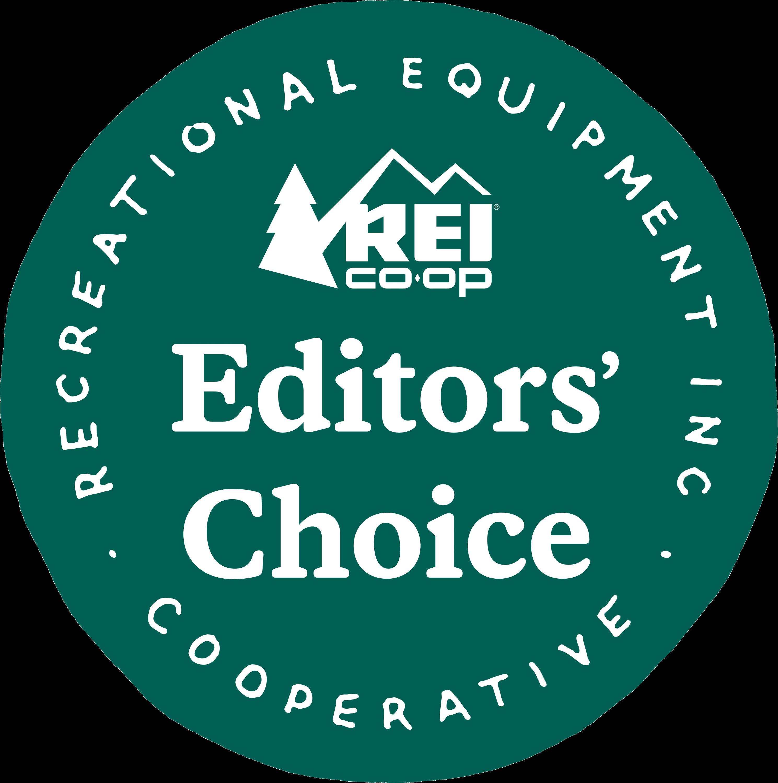 REI Editors Choice Award logo.