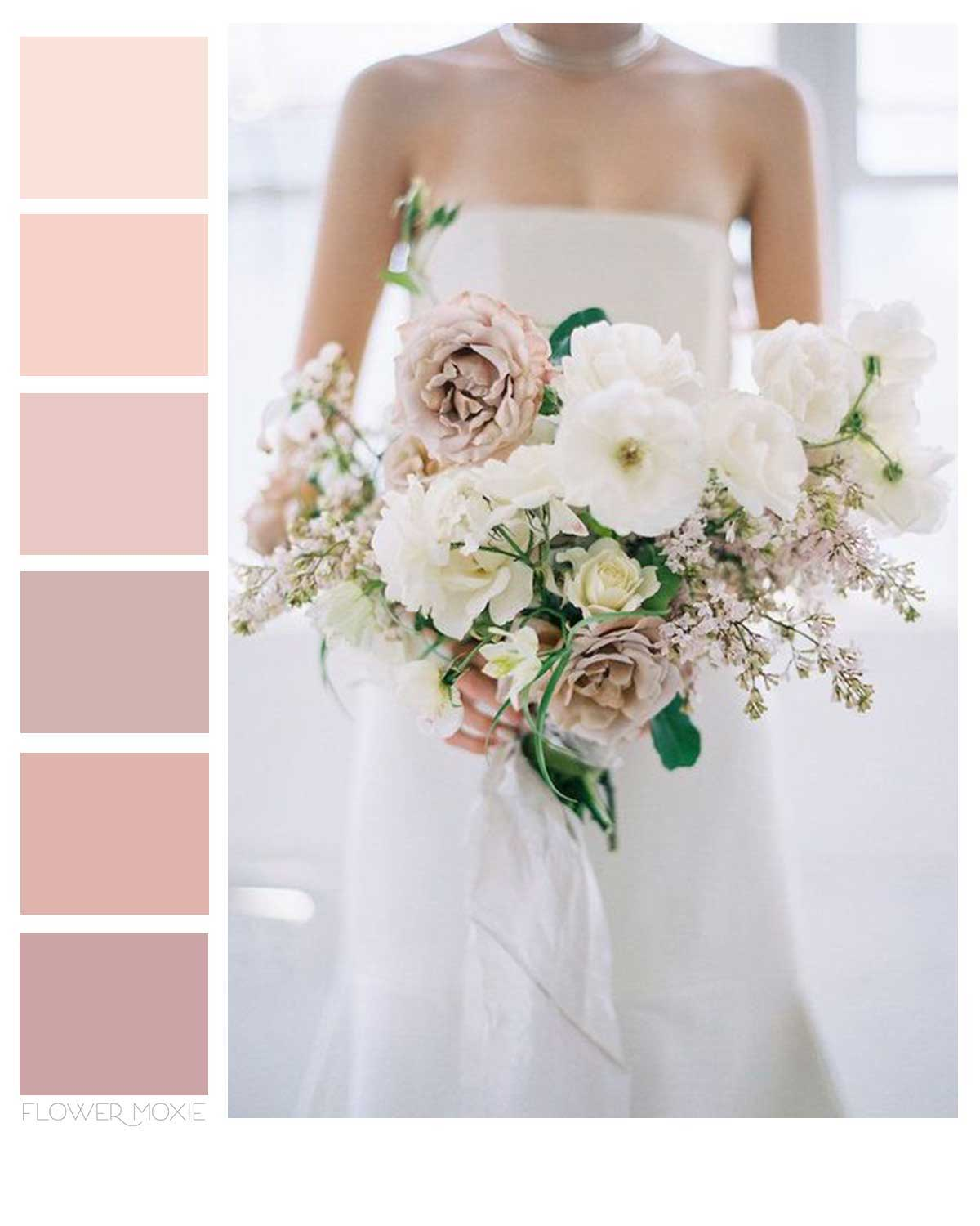 dusty pink and cream wedding flower DIY packages