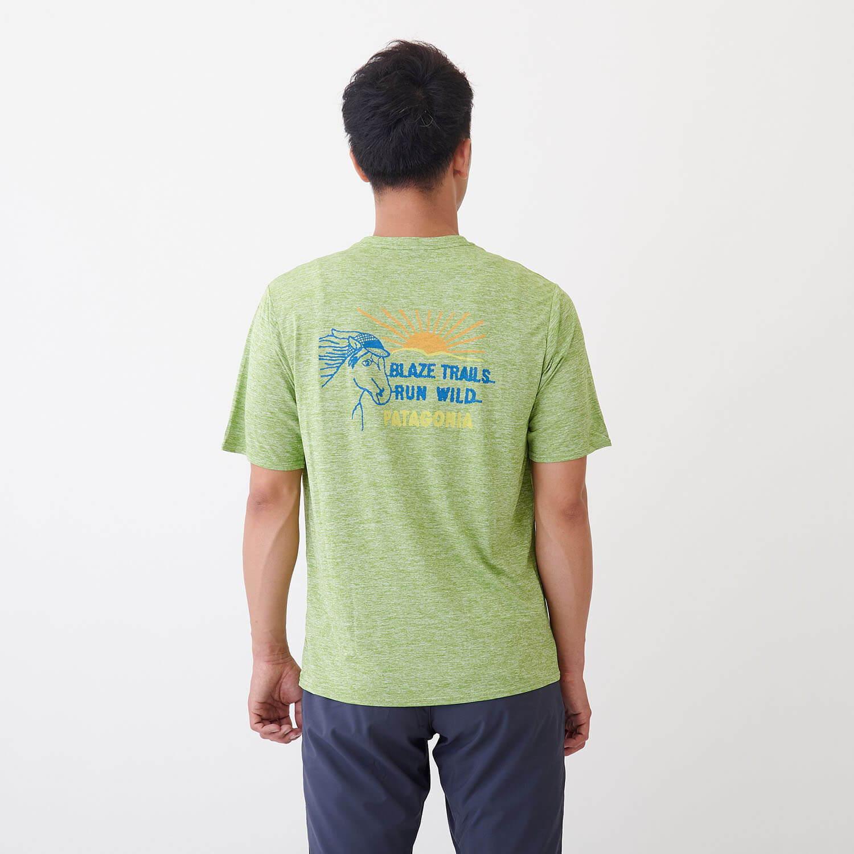 パタゴニア(patagonia)/キャプリーンクール デイリーグラフィックシャツ/カーキ/MENS