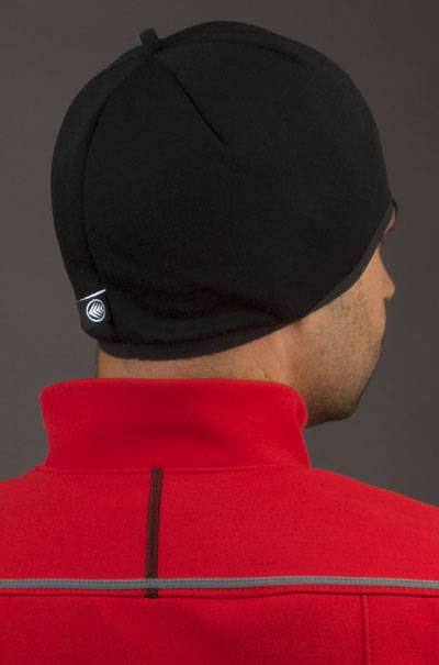 Merino Wool skull cap Model Back
