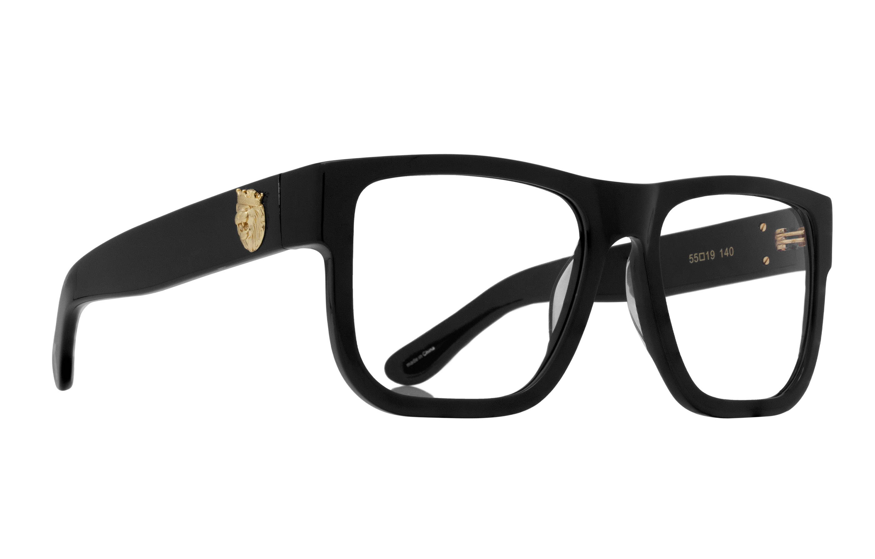King Ice Lion Head Glasses with Black Frame