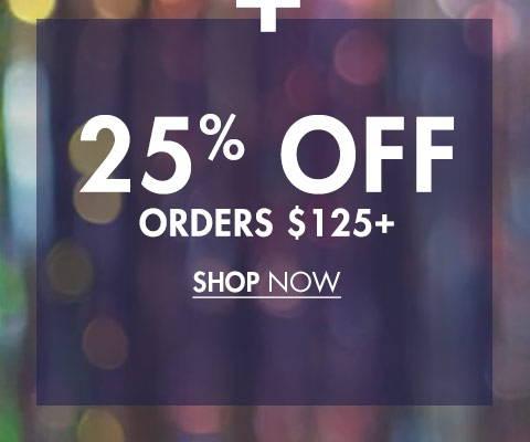 25% Off Orders €125+