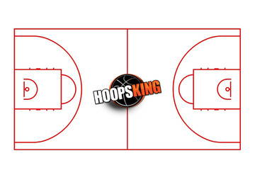 Basketball Court Diagram Hoopsking Red