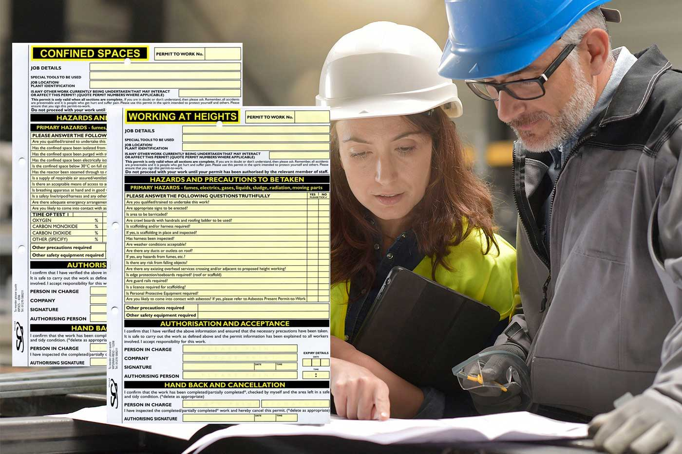 Confined Spaces Permit To Work | SG World