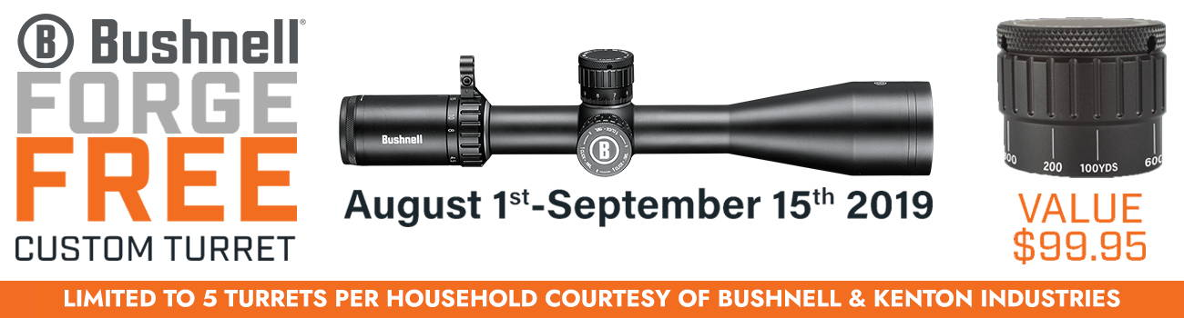 See all our Bushnell Forge Riflescopes!