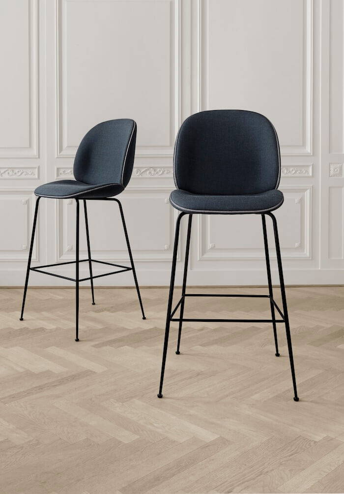 Gubi Beetle Upholstered Bar Stools