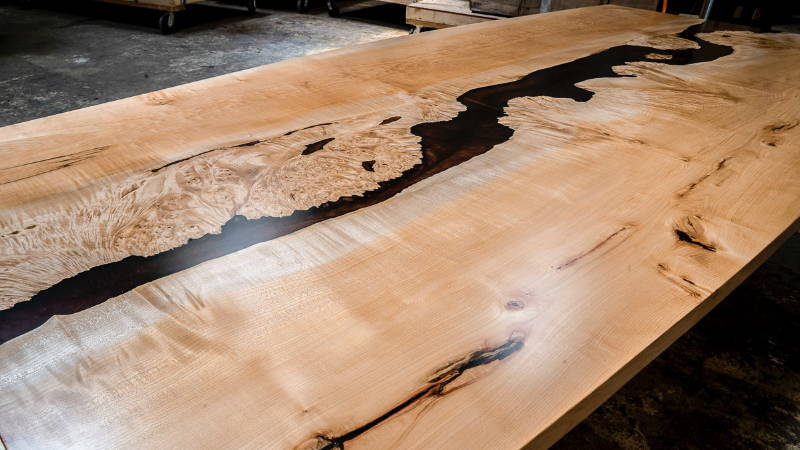 Inverted Maple Epoxy Dining Table