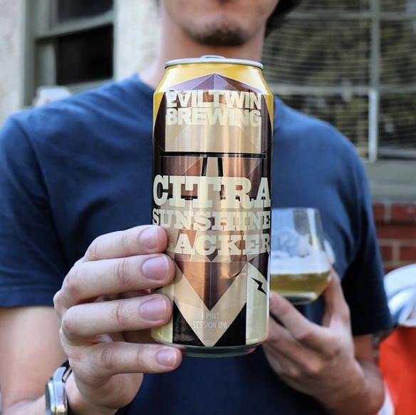 Evil Twin Brewing citra sunshine slacker beer can