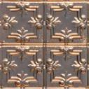 Mini Fleur de Lis w/ Dosh and Dot Copper Ceiling Tile 1202DD
