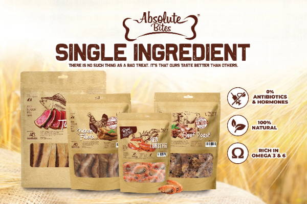 Absolute Bites freeze-dried / air-dried dog and cat treats banner 2