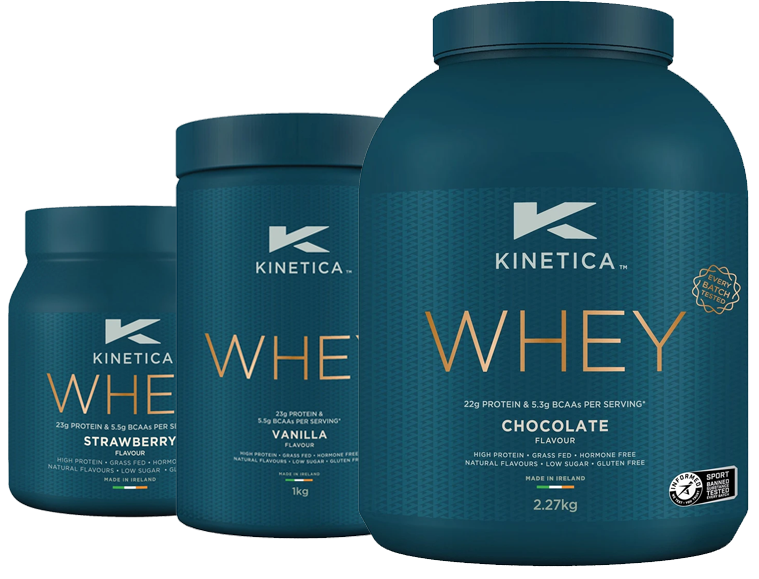 Kinetica Whey Protein Vanilla, Chocolate, Strawberry, Chocolate Mint, Banana 1kg
