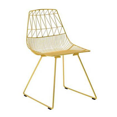 Modern Gold Outdoor Dining Chairs