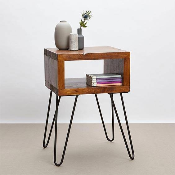 Industrial Small Bedside Table