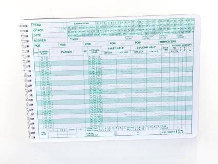 basketball scorebook sheet