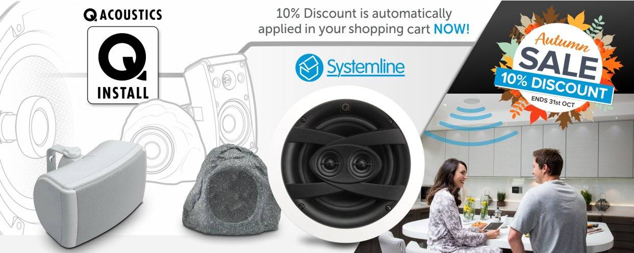 Q Install and Q Acoustics 10% Discount at Audio Volt in the month of October