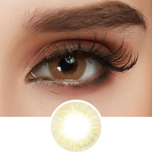 beige color contact lens