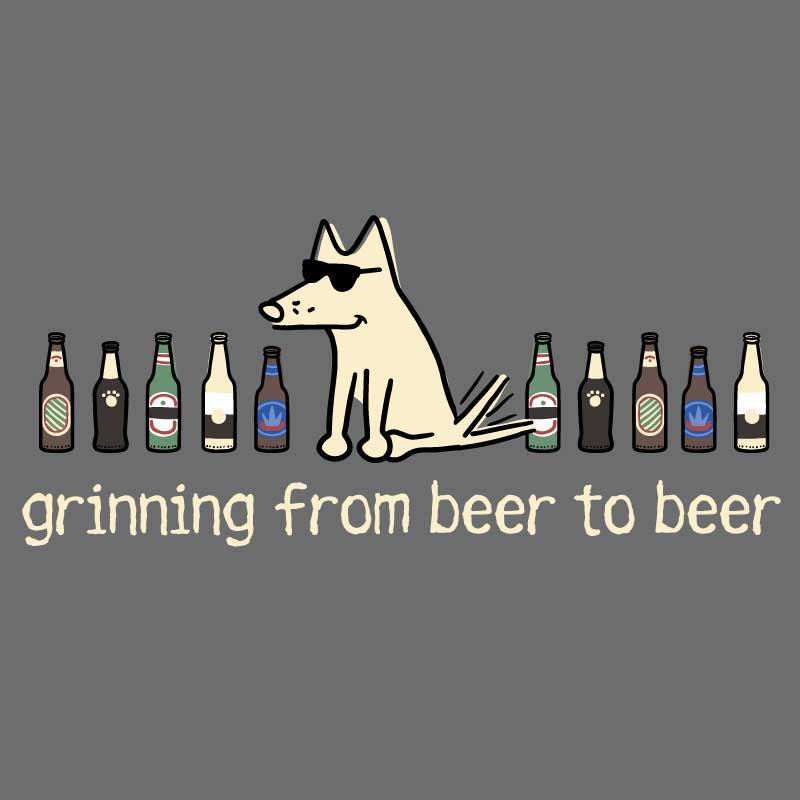 Shop teddy the dog grinning from beer to beer