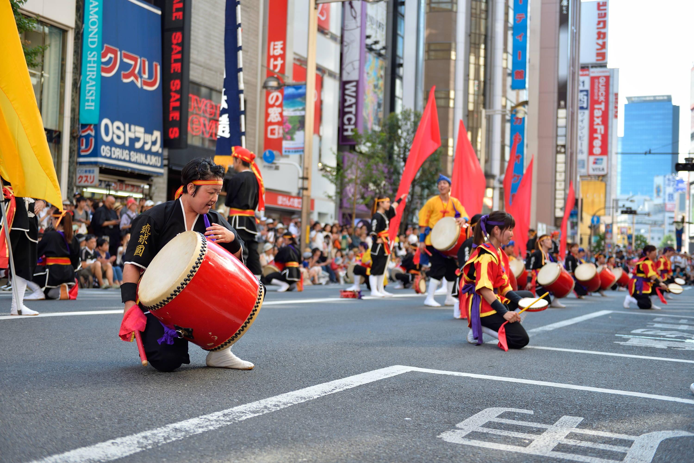 Drummers at Shinjuku Eisa Festival