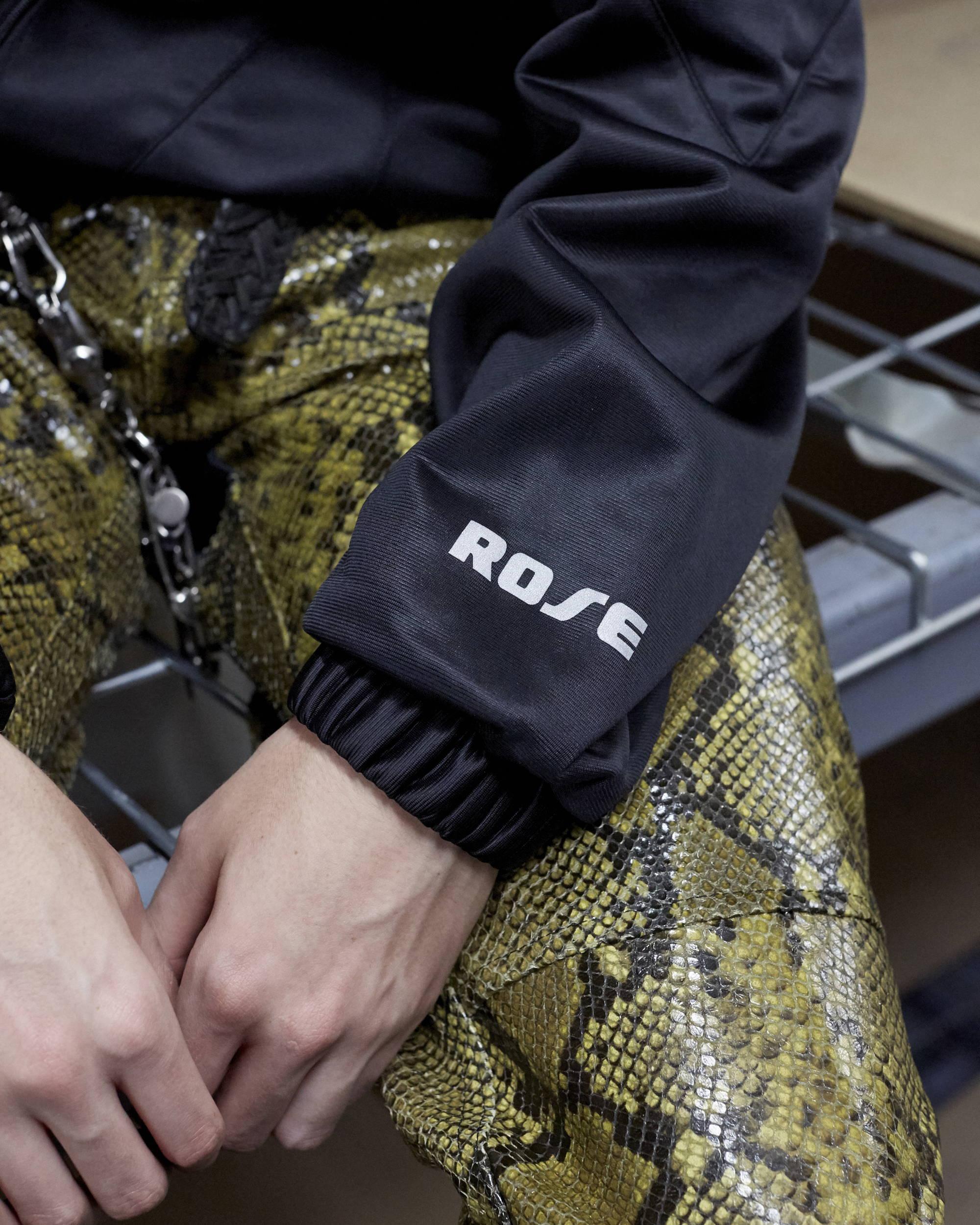 Martine Rose FW18 Twisted Black Track Jacket Sleeve Detail - Hlorenzo