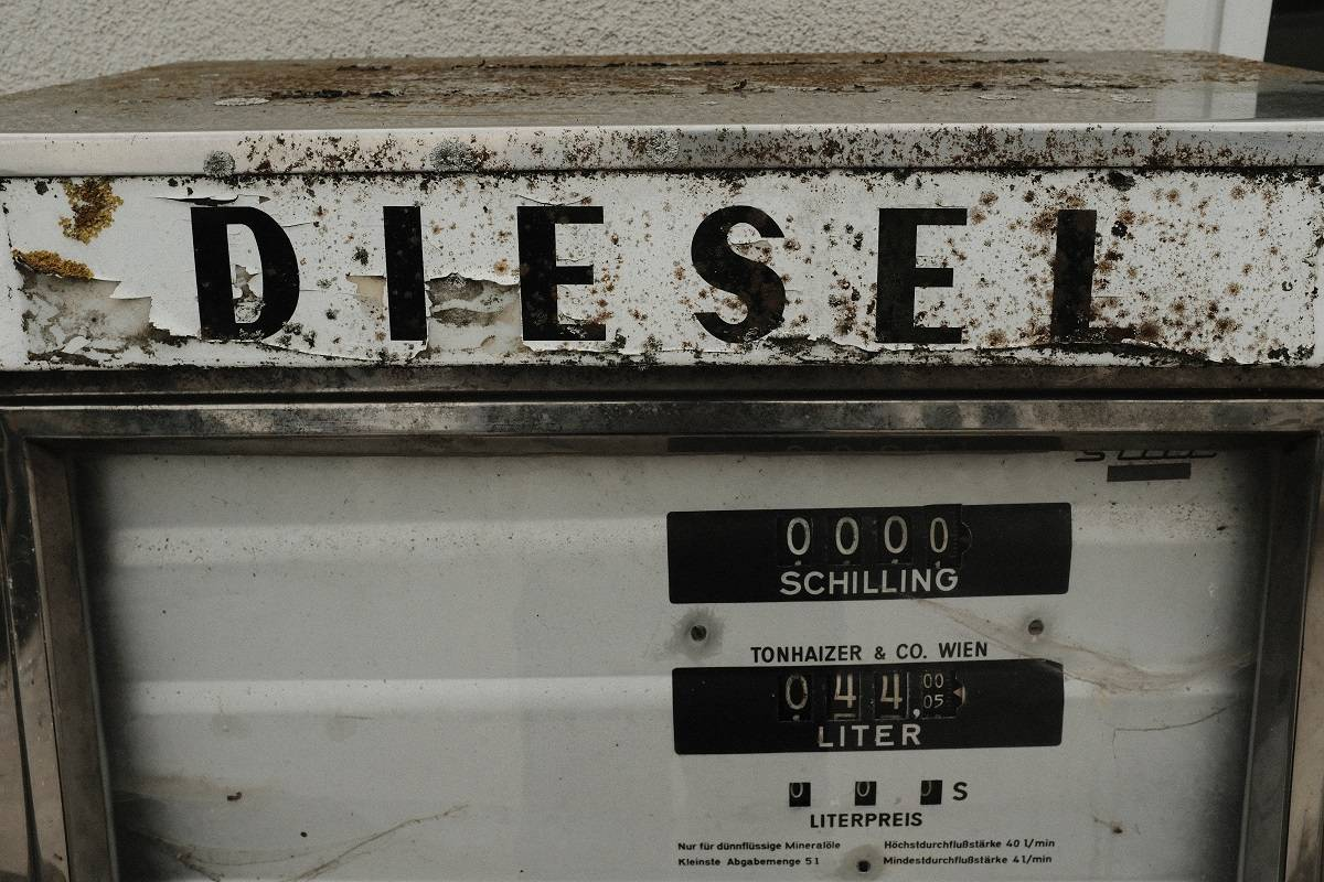 An old Diesel fuel pump
