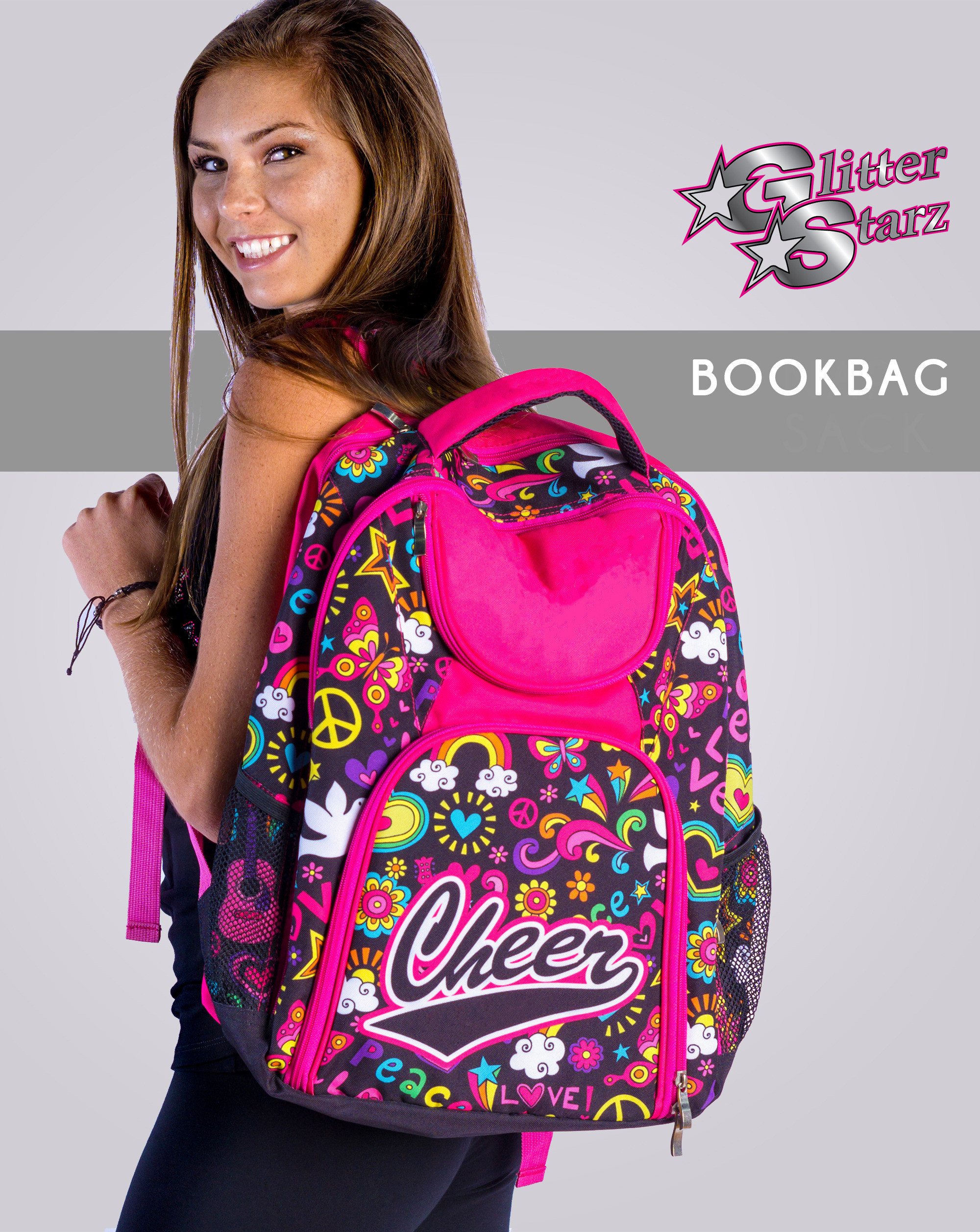 glitterstarz bookbag dyesub custom pattern teamwear travel bag