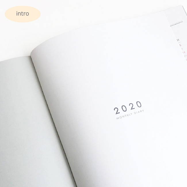 Intro - O-CHECK 2020 Spring come A4 dated monthly planner
