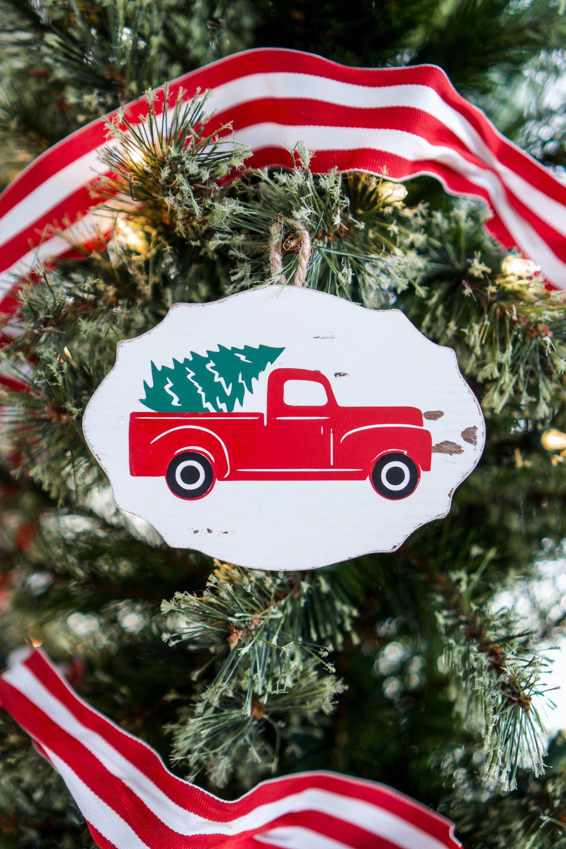 Diy Christmas Ornament Ideas Heat Transfer Vinyl On Wood