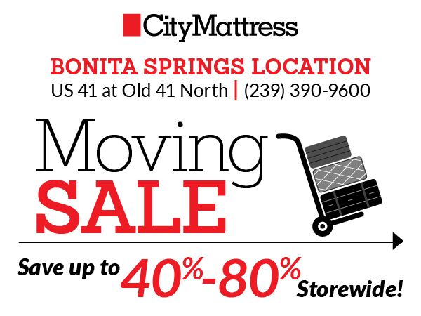 Bonita Springs Moving Sale   City Mattress