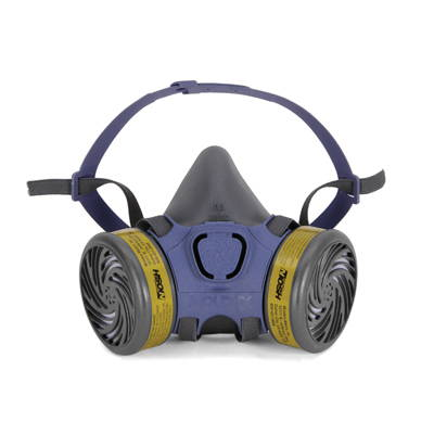 Air purifying respirator mask kits with filters
