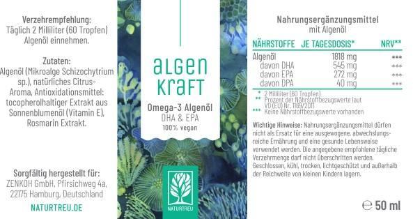Algenkraft Omega 3 Algenöl