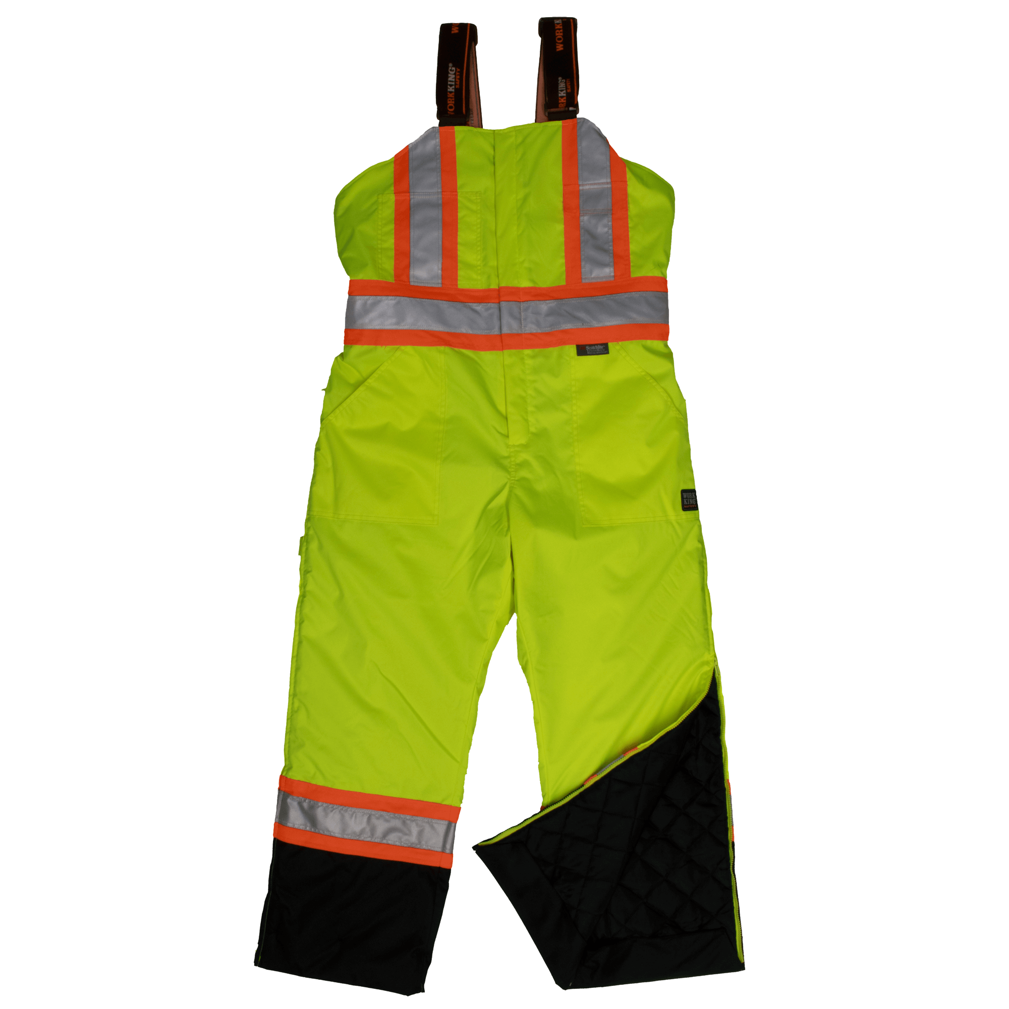 High Visibility Tough Duck Quilted Lined Safety Overall S798