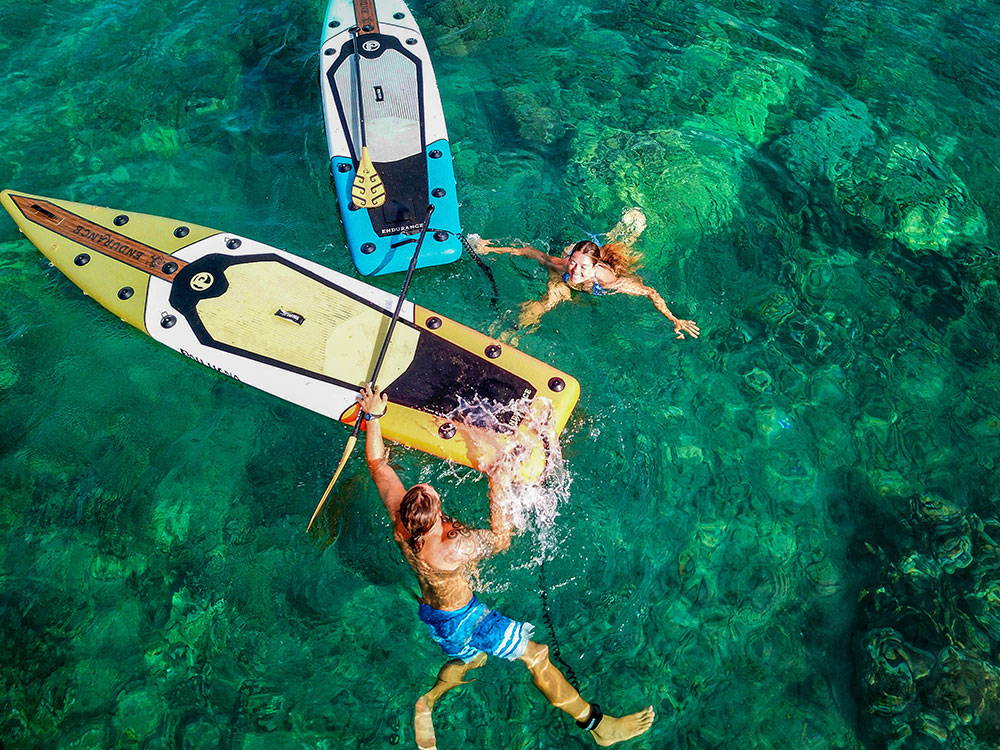 Adventures on the Endurance Air ultimate inflatable touring board from Pau Hana