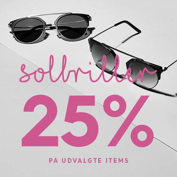 Solbriller 25% på udvalgte items