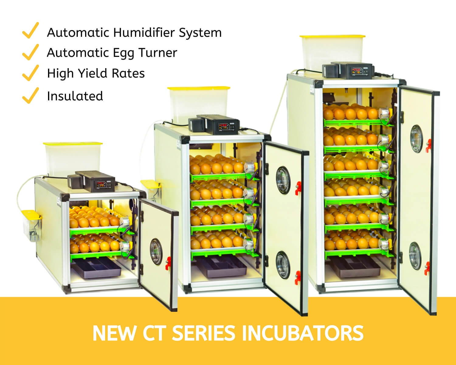 CT60, CT120, CT180 Incubators - Cimuka Hatching Time