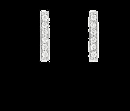 Pavé Sterling Silber Bar Ohrringe