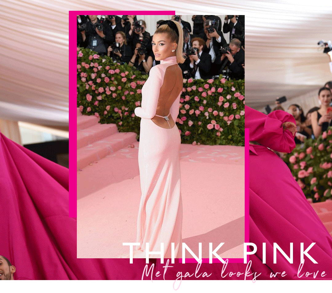 Hailey Bieber pink gown at the met gala